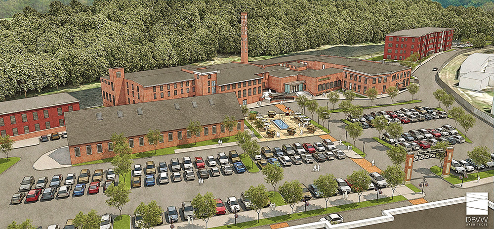 This image shows what the Eagle Mill could look like after renovations.
