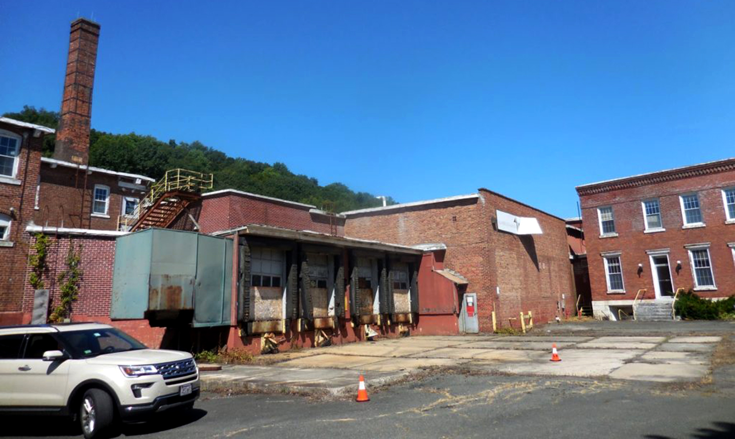 The dilapidated former Eagle Mill awaits its 'transformation.'