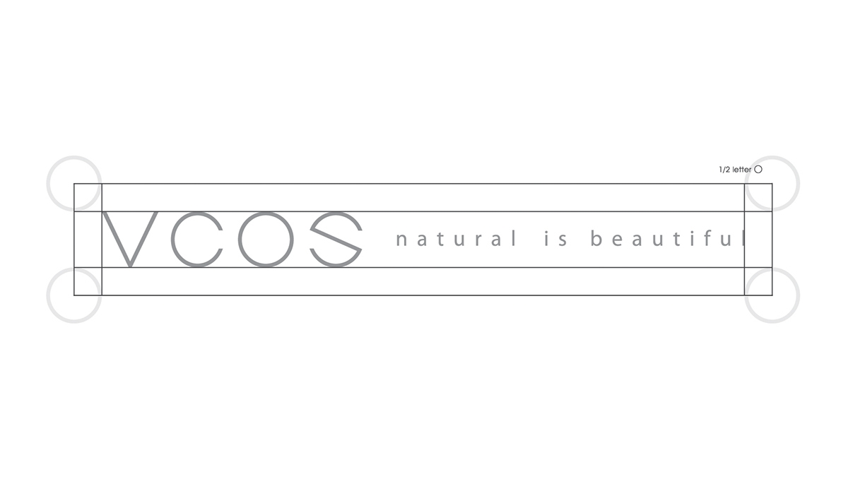 Basic logo with slogan type - Horizontal version