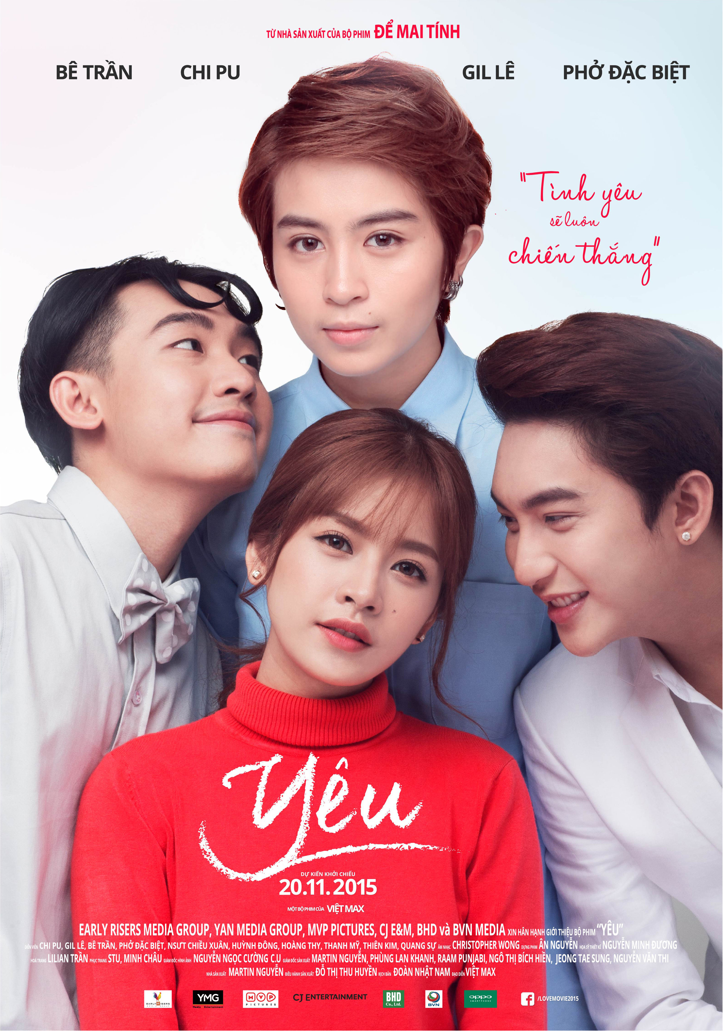 YEU - Poster size: 28 x 40 (inch)This project was to create to support advertising the release date of the movie YEU happened in Vietnam. In this project, I not only worked with the producer team of the movie but also worked with two members of my team at YMG corporate who are Alicia Billon and Maxk Nguyen.