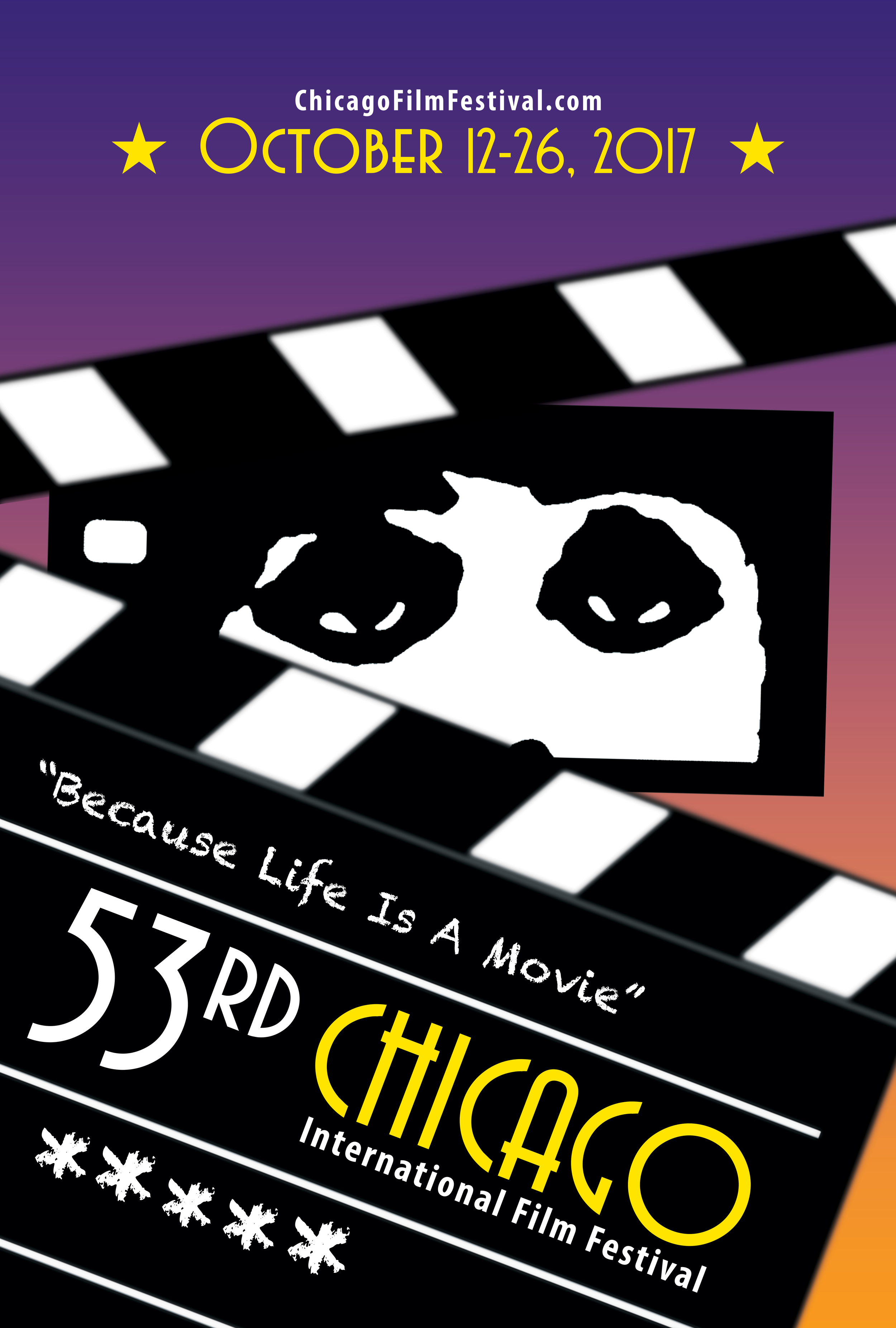 Because Life Is A Movie - Poster size: 27 x 40 (inch)This poster is my submission for the 53rd Chicago International Film Festival Poster Design Competition which themes is