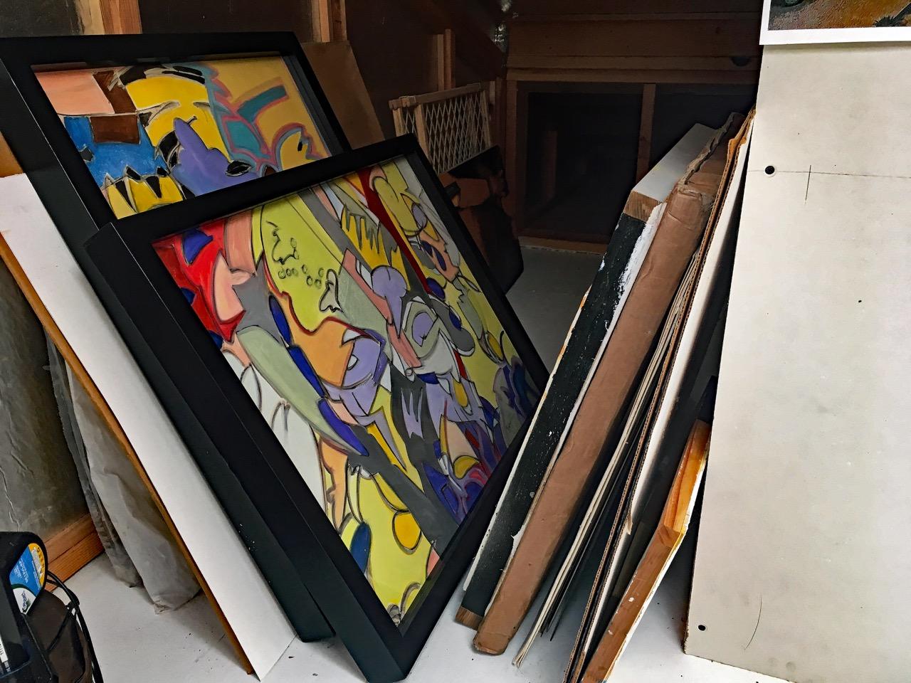 studio paintings in rack.jpeg