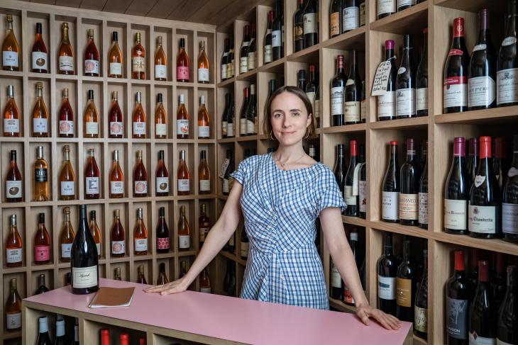 Helen Johannesen, a partner and the beverage director of Jon Shook and Vinny Dotolo's restaurant group. (Jon Endow for LAist)