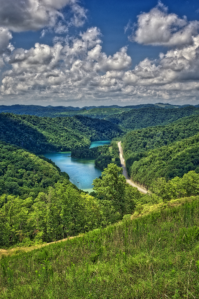 Carr Creek Lake - Carr Fork, a tributary of the North Fork of the Kentucky River, is located 8.8 miles below Carr Creek Dam, and is thought to have gotten its name from William Carr, a well-known
