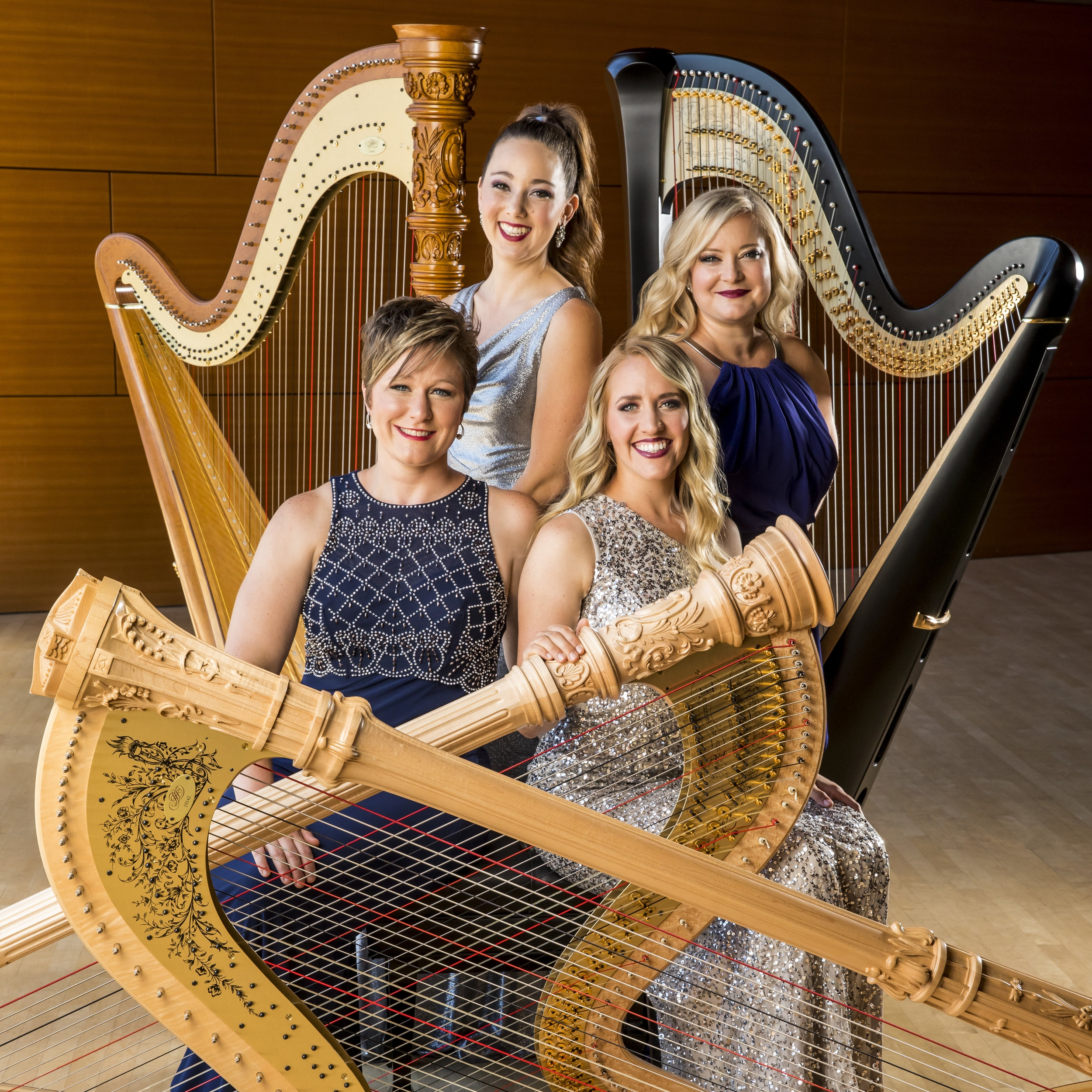 Photo: AHS 2019 Summer Institute Presenters, Chicago Harp Quartet