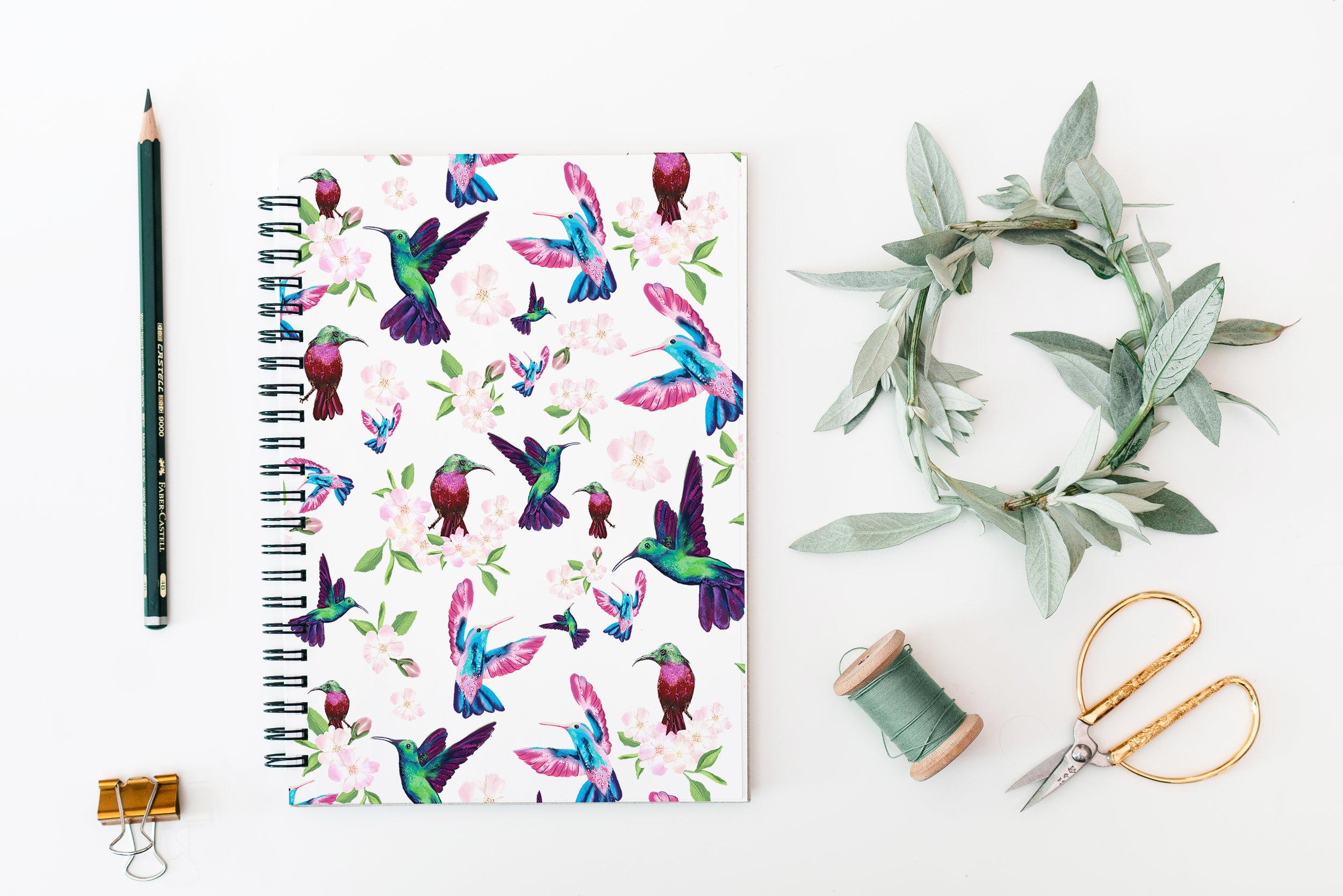 Hummingbird Notebook Mockups