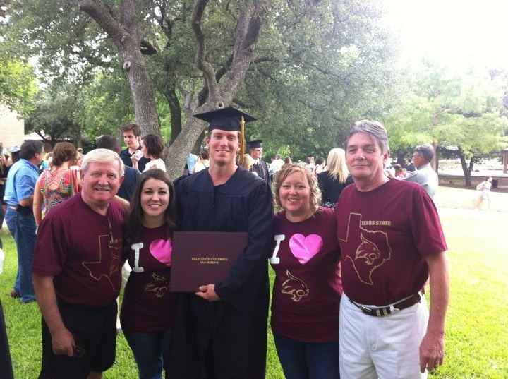 8.11.12 Baby brother's college graduation.
