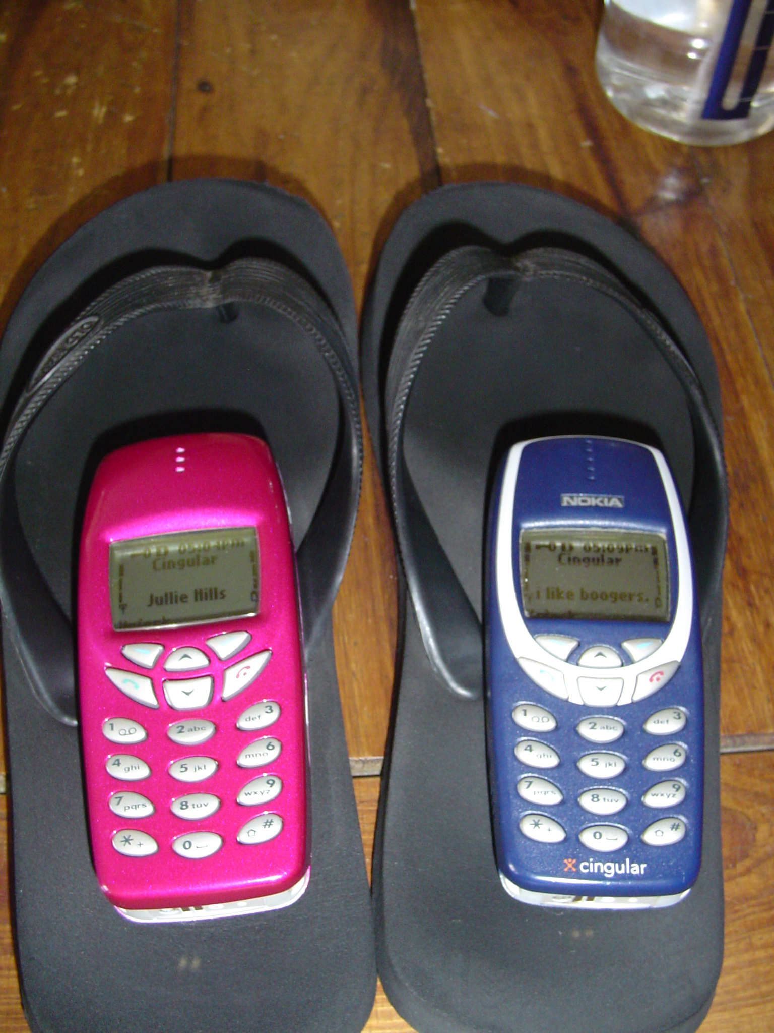 8.30.03 We've had matching cell phones for the last 16 years!!!