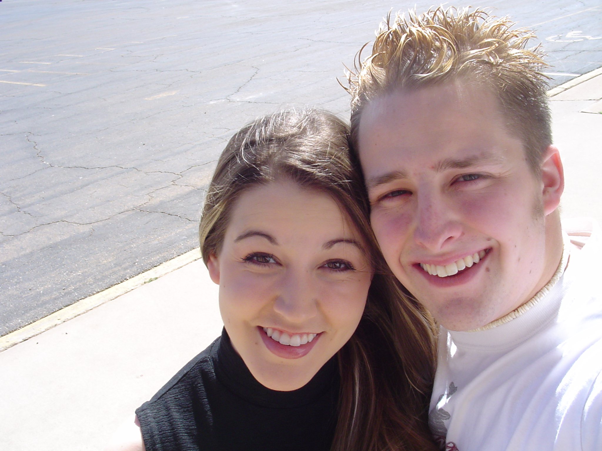 3.24.04 New Mexico. Such a sweet time in our relationship. Traveling and singing together.