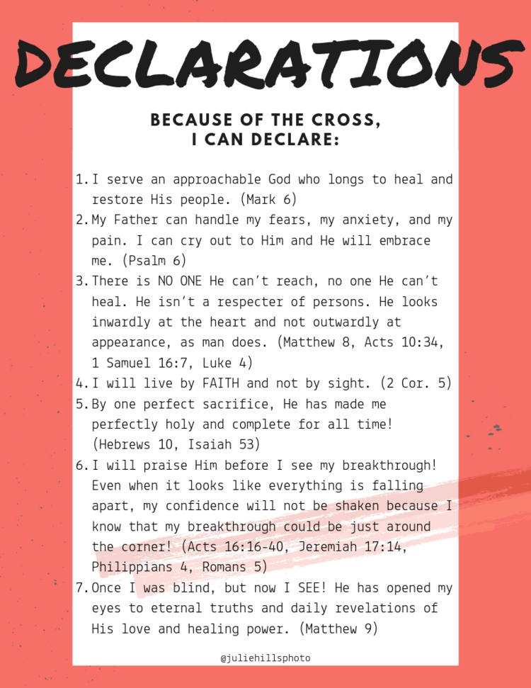 FREE Downloadable Print! - Click the button below to download the free printable and start speaking these truths out over yourself!