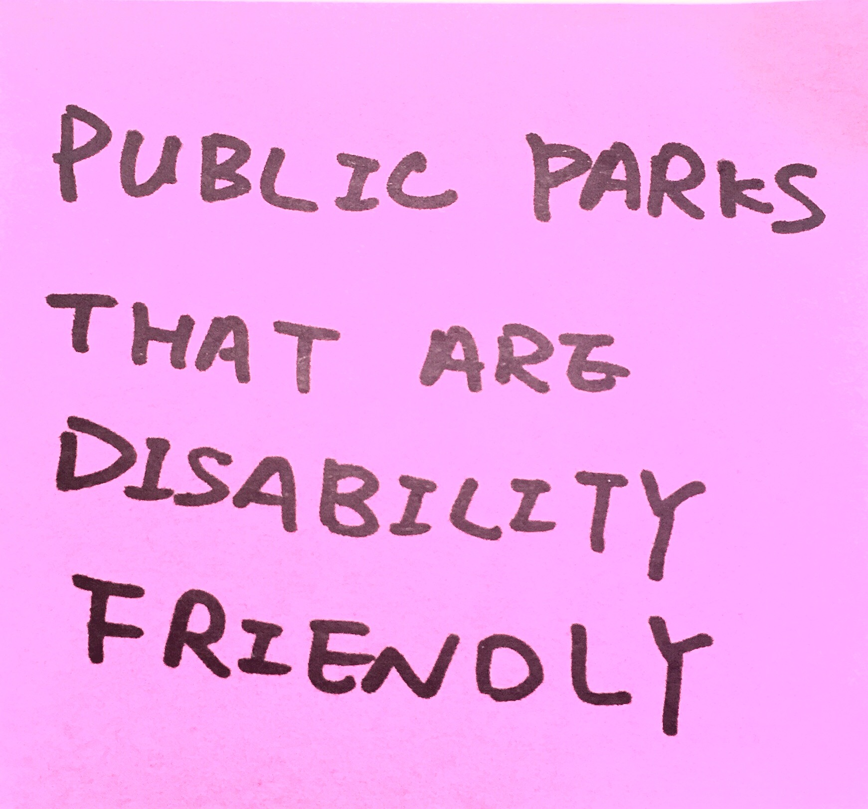 public parks that are disability friendly