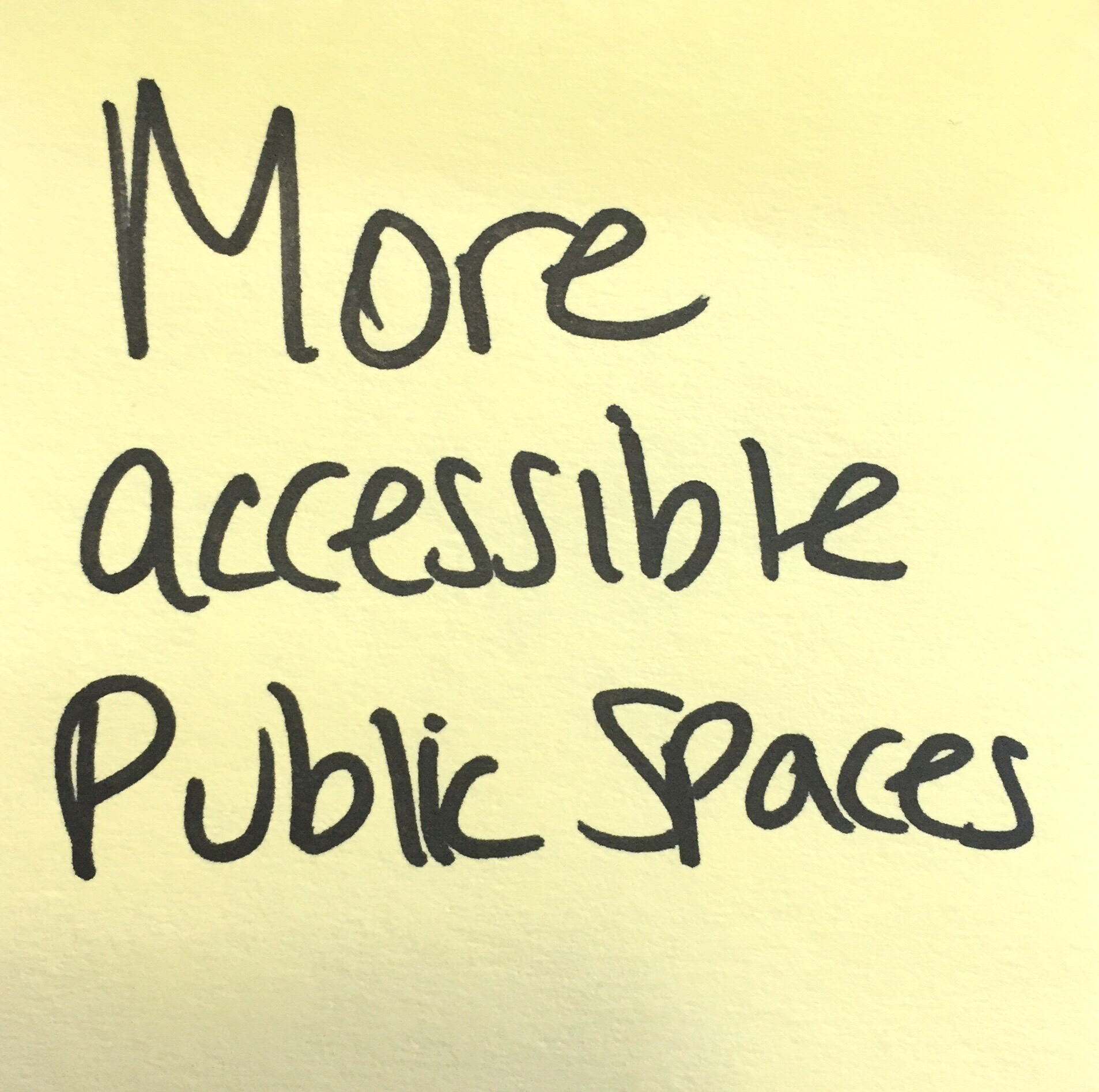 more accessible public spaces
