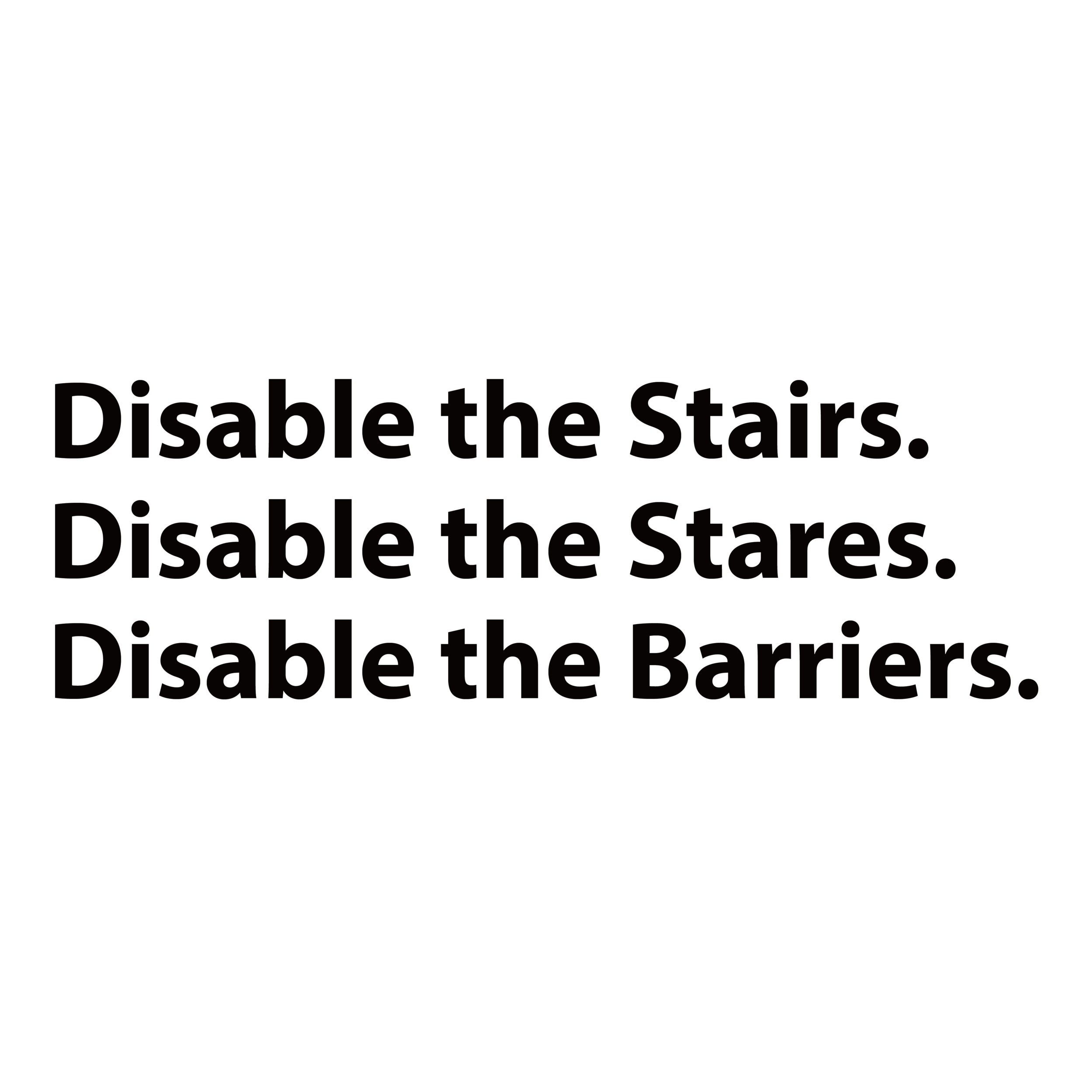 Disable the Barriers logo tagline.