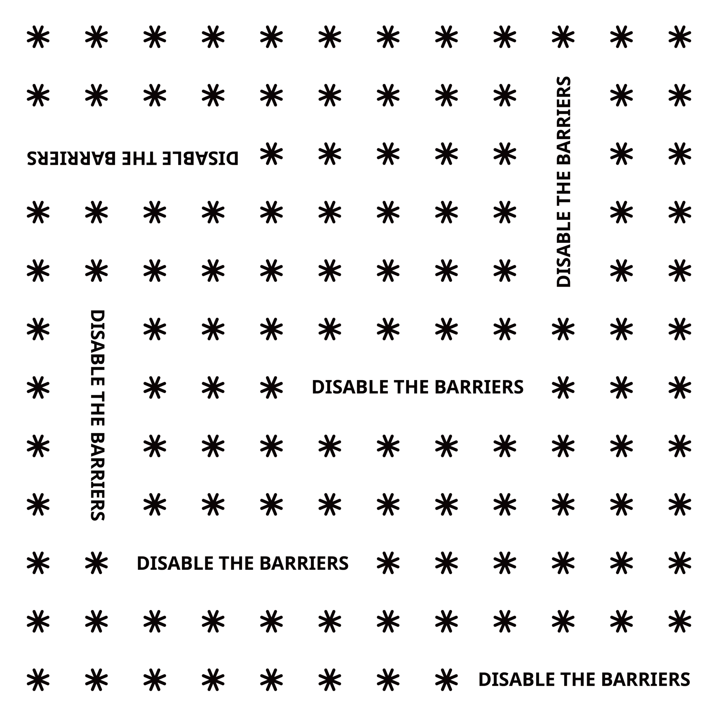 Disable the Barriers bandana design