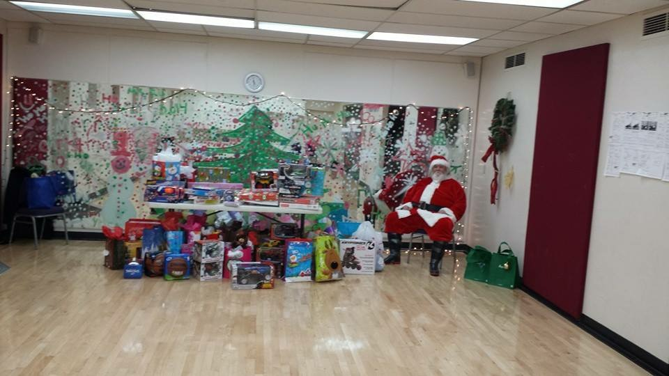 The first Toy Giveaway at North Branch YMCA.