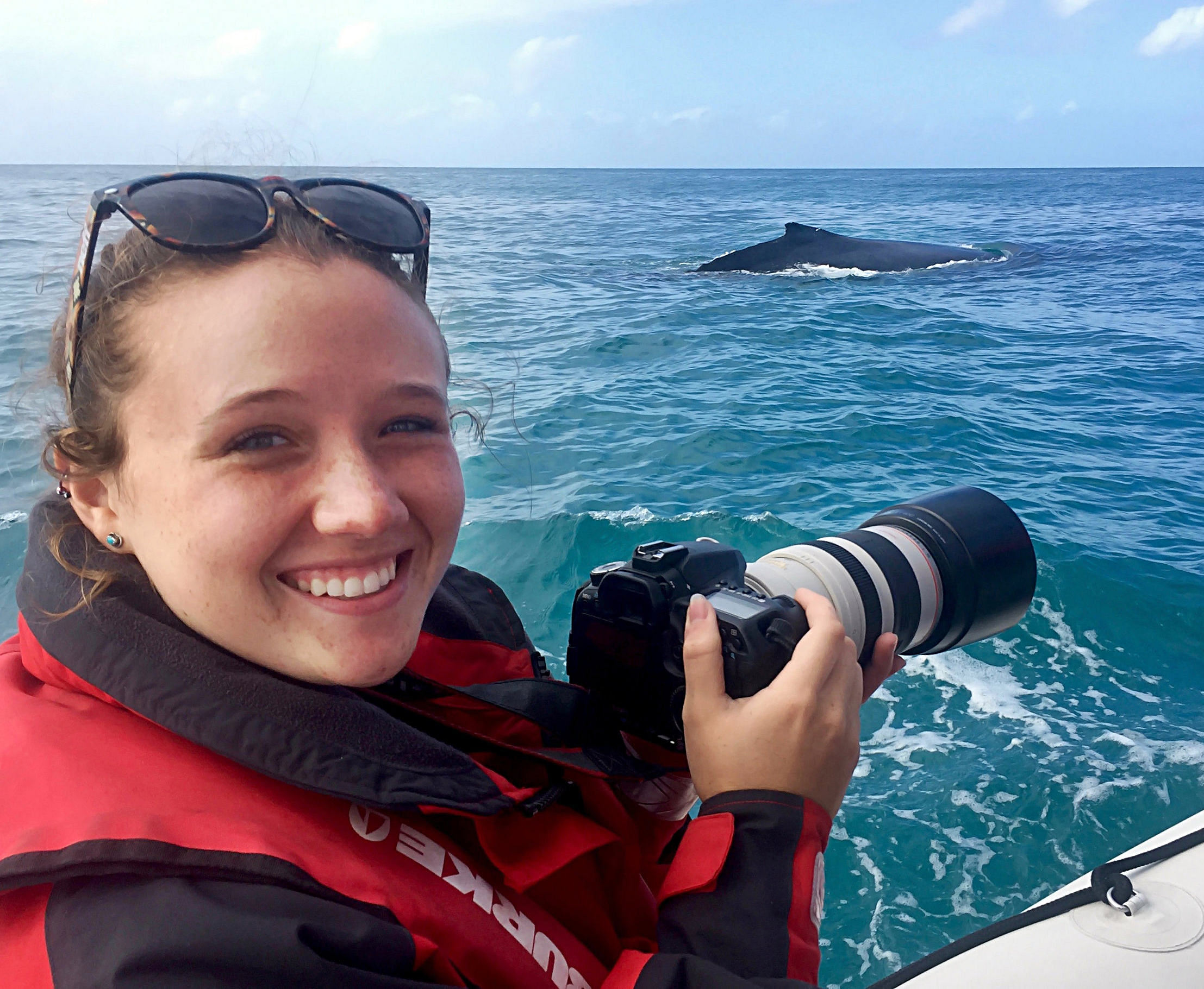 Research Assistant and humpback - © Blue Planet Marine.jpg