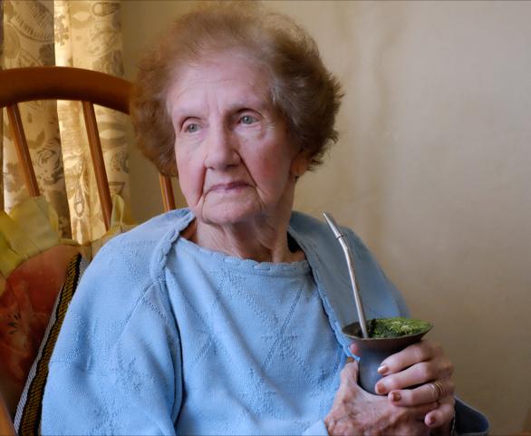 my mom at 92