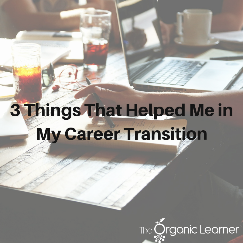 - A career change and relocation for my husband led to unexpected career changes for me. I transitioned from teaching in a brick and mortar building to teaching online. This led to an immediate need to address my skillset as a teacher. As I pursued learning and growth in an effort to add to my skillset, opportunities to help train other teachers in embracing the changes that faced them came my way. These opportunities were exciting, but again led to the need to address my skillset as I faced a transition in working with elementary learners to working with adult learners.There are three things that helped most in my career change and transition. If you are facing a career transition, I'd like to grow in each of these areas:Personal Digital Learning Network (PDLN) - Finding other online teachers helped me learn and grow in the best practices of the industry. Early on, this meant finding teachers via Twitter. Now I'm a part of several Facebook Groups and communities of teachers that are both in traditional classroom settings and have moved into different parts of education similar to me. Finding these groups of people makes for a powerful network when a question arises or help is needed.Mentor - Finding a career mentor was essential for me in facing some of the changes that I never expected. For example, as I faced transitions mid-career with our family's relocation, I realized that the interview process was going to be something that I would be visiting. I had not faced this for process for a decade. My career mentor helped coach me through preparing for an interview with practice questions and scenarios.Time - This may sound simple, but it was one of the hardest things for me. I had to give myself the time to learn and grow and allow others to accept the changes I was going through as well. Initially, changing careers, seemed only to lead to dead ends. I was told that I simply did not have enough experience in a setting outside of the classroom. Allowing myself the t