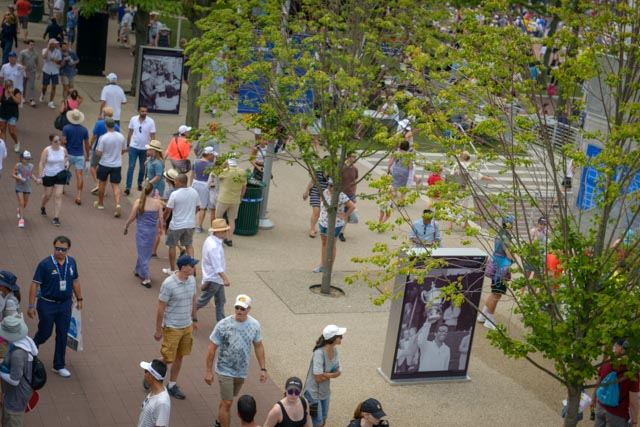 The Ashe 68 Photo exhibit was seen by hundreds of thousands of people over a 3-week installation at the 2018 US Open.