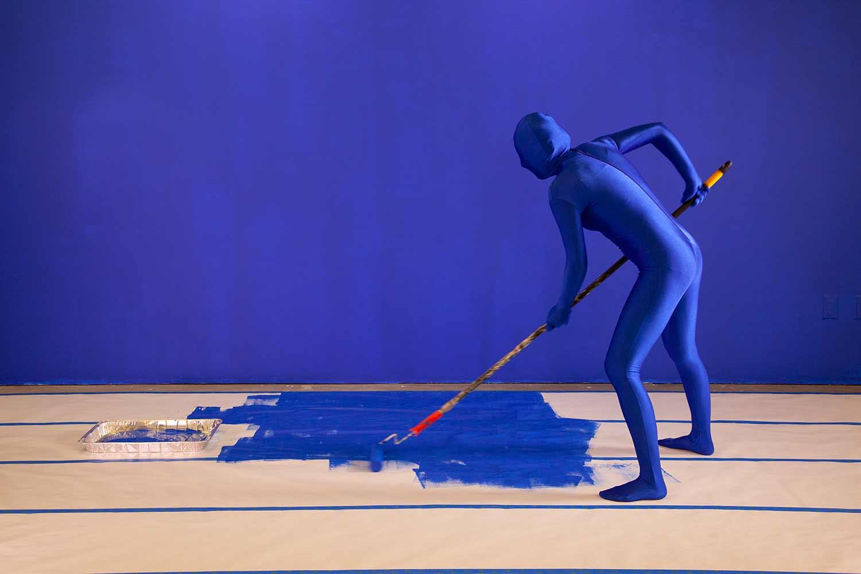 Making a DIY blue screen