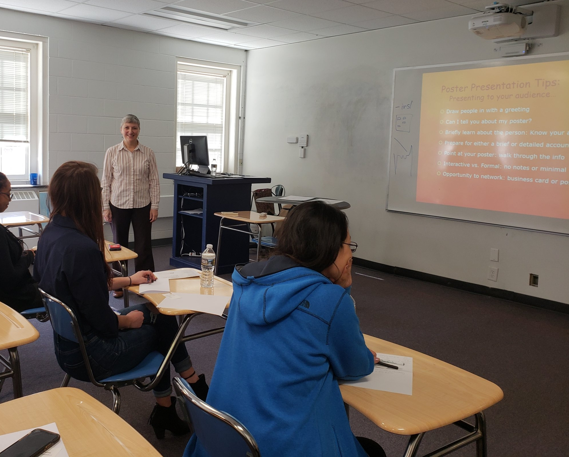 Dr. Karen Guzman shares tips on how to give great scientific presentations at the workshop. -