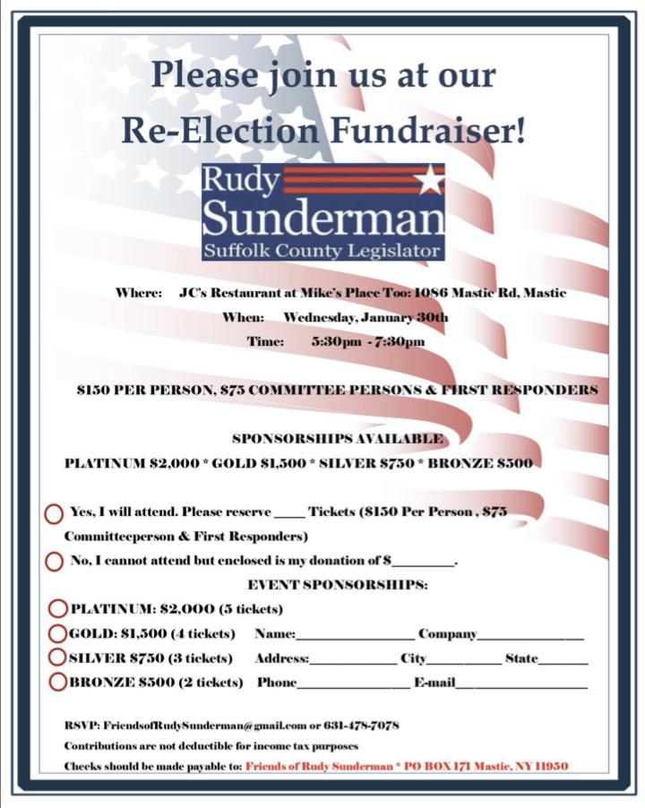 Rudy Sunderman for Legislator