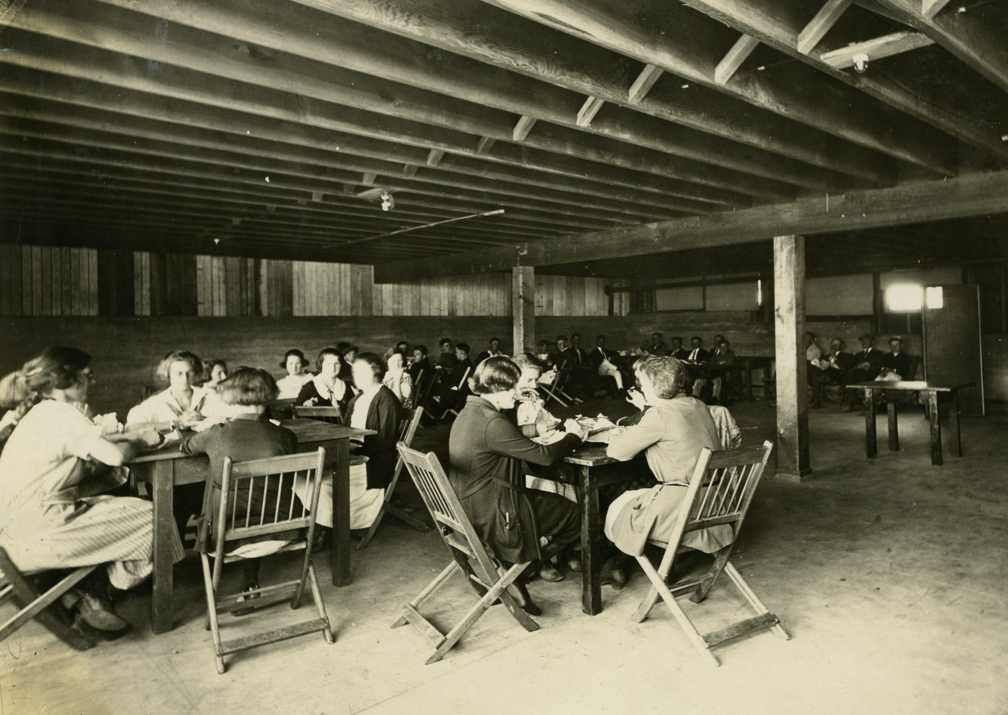 Tomales High School's cafeteria occupied the auditorium's lower level. Today a section of this space serves as the TRHC's meeting room.