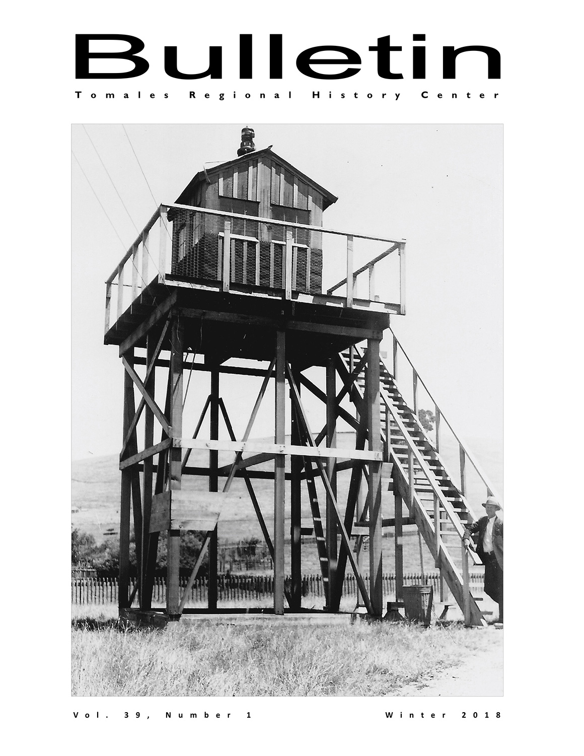 """BULLETIN, Tomales Regional History Center, Vol. 39, Number 1, Winter 2018  This New Year edition of the quarterly was inspired in large part by the disastrous fires in our neighboring Sonoma County a few months earlier. The issue's theme of """"Change, Recovery, and Adaptation"""" is a common one across all of history, and the issue explores the cycles, large and small, of local change and recovery, from well before settlement to today."""