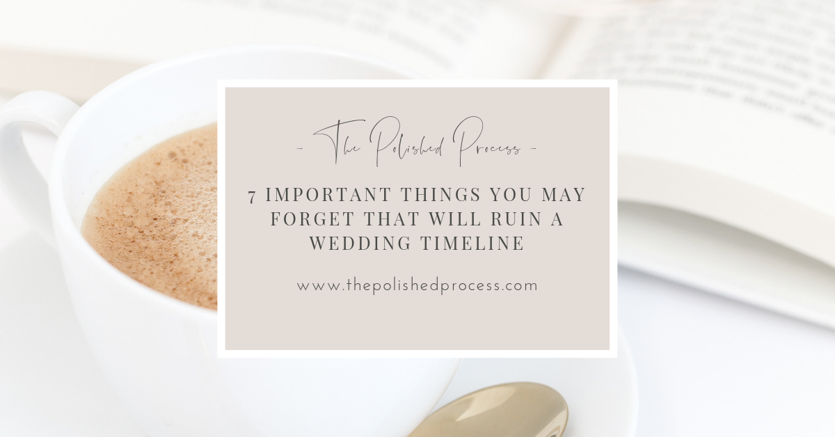 Wedding Planners live and die by their wedding day timelines! Forgetting anything can can completely ruin the flow of the day. But don't worry, I've got you! Check out these 7 things many planners forget to include on their wedding day timelines and totally impress your clients and other vendors!