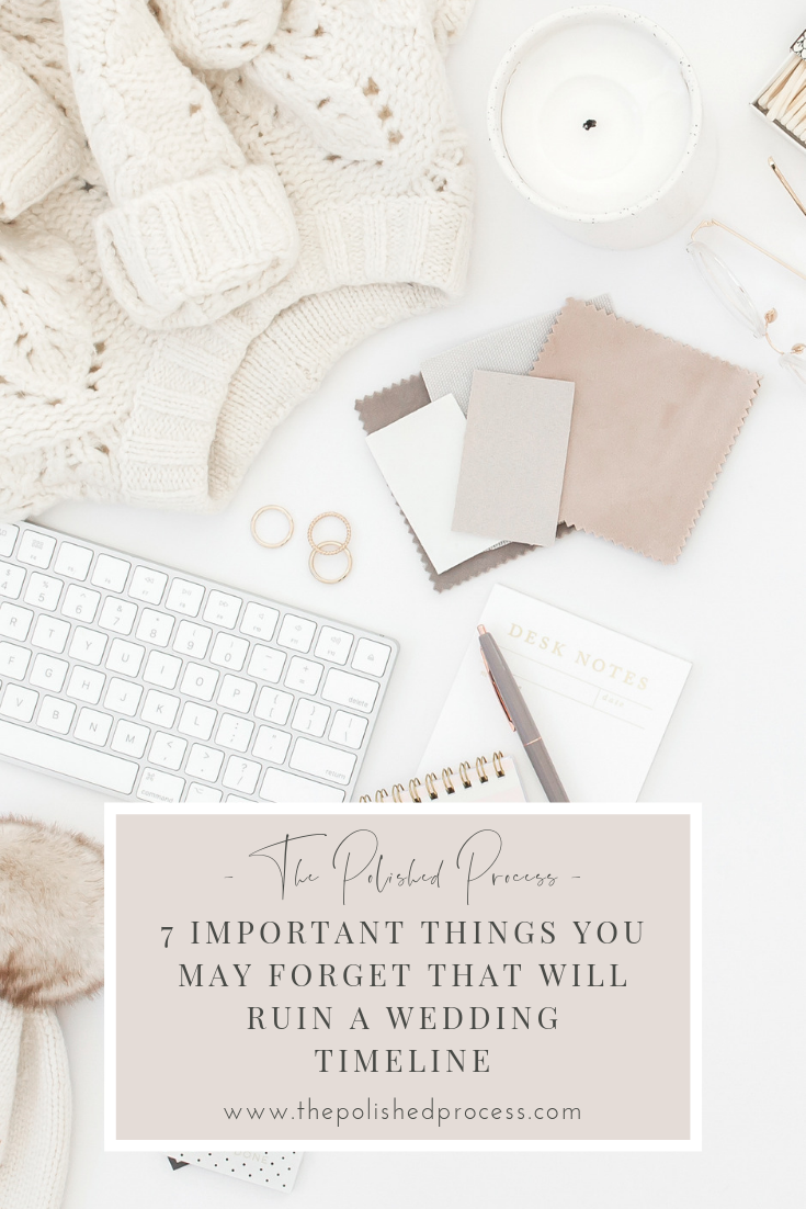 Creating wedding day timelines is hard, it takes me hours to create the versions I use for wedding days! And I have learned over years of trial and error to include every, single detail. Check out these seven often overlooked items that every wedding planner must include on a wedding timeline!