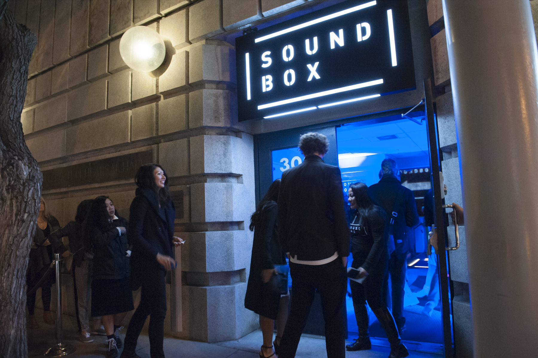 The Entrance to SoundBox from Franklin Street
