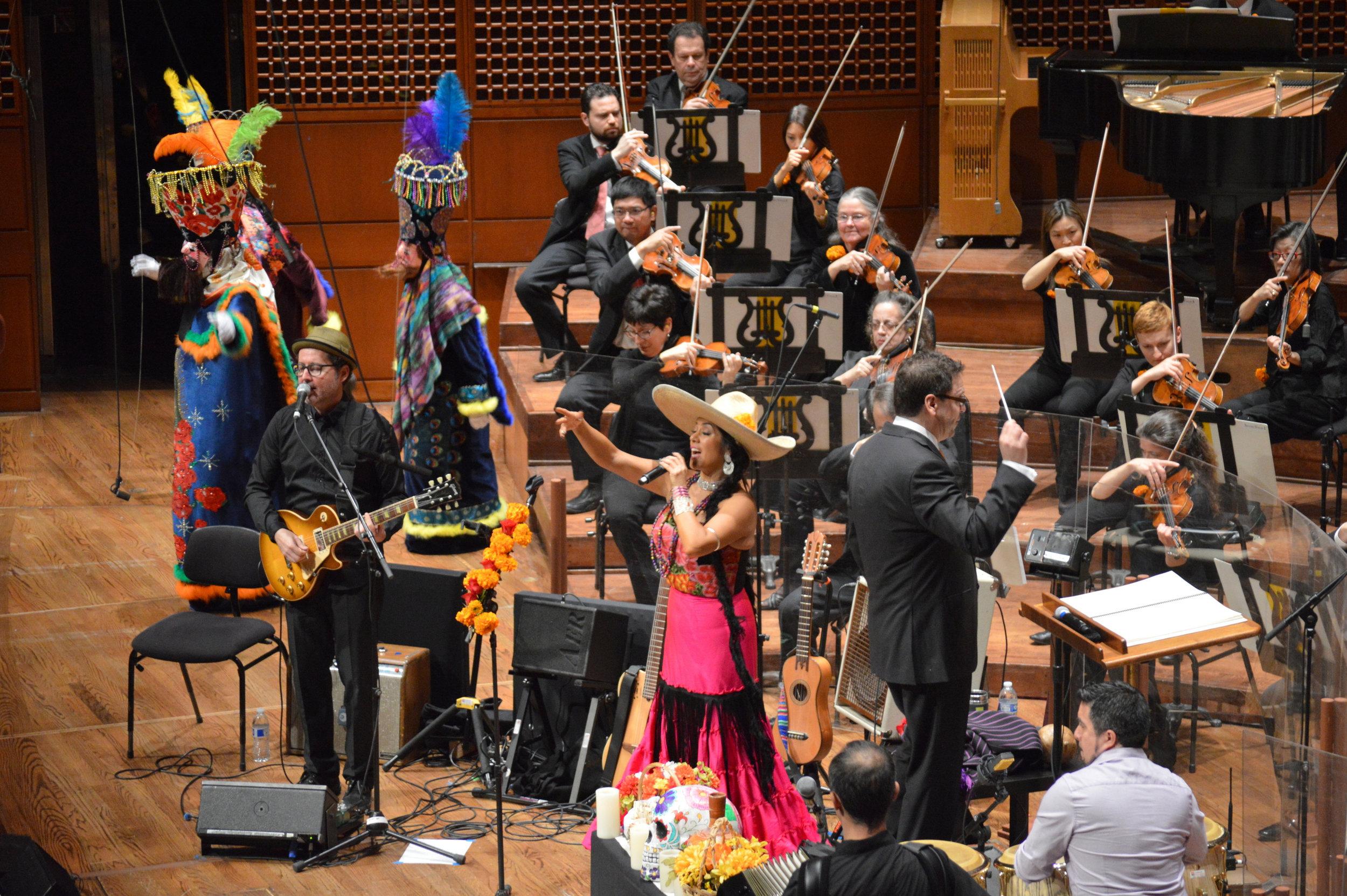 Lila Downs performs for Día de los Muertos
