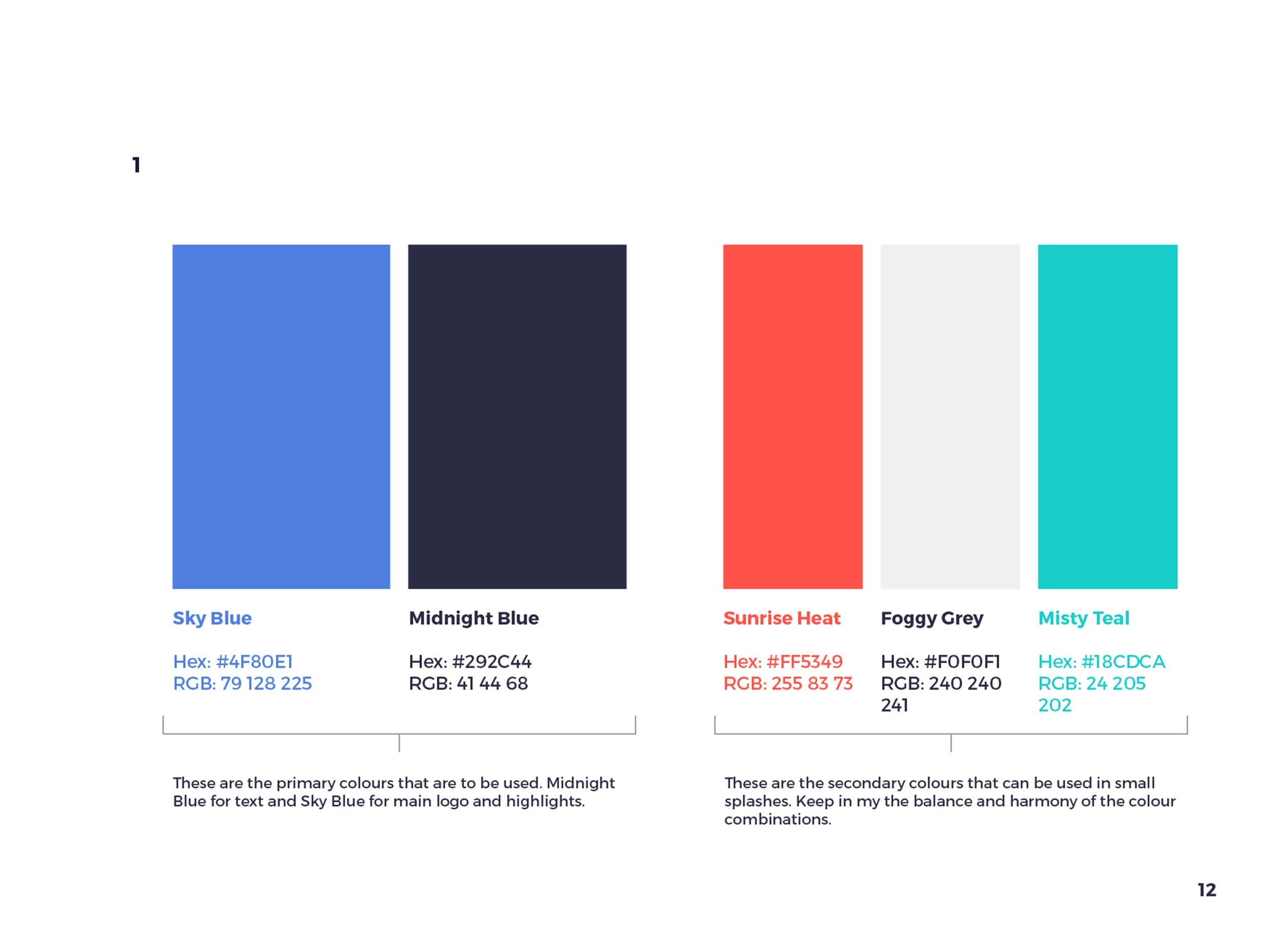 Named colours in style guide
