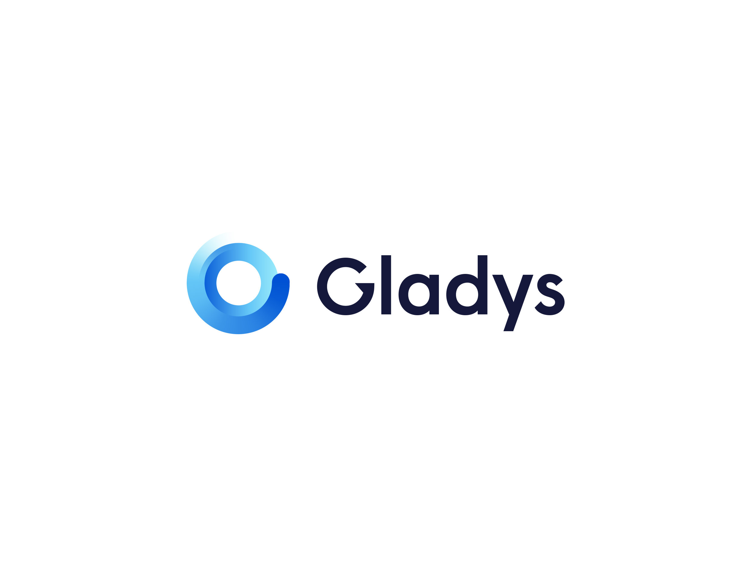 Keeping a circular shape, this represents a more digital representation while making an effective use of gradient colour to highlight Gladys and her learning and always adapting nature.