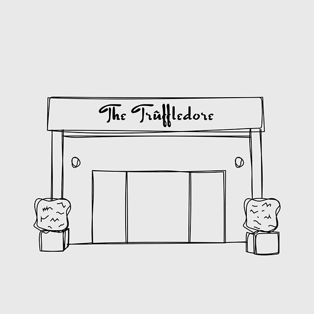 Custom illustrations created for a local food crawl to some of the best spots along the NW Coast 🌿 @thetruffledore #cultivateproductions