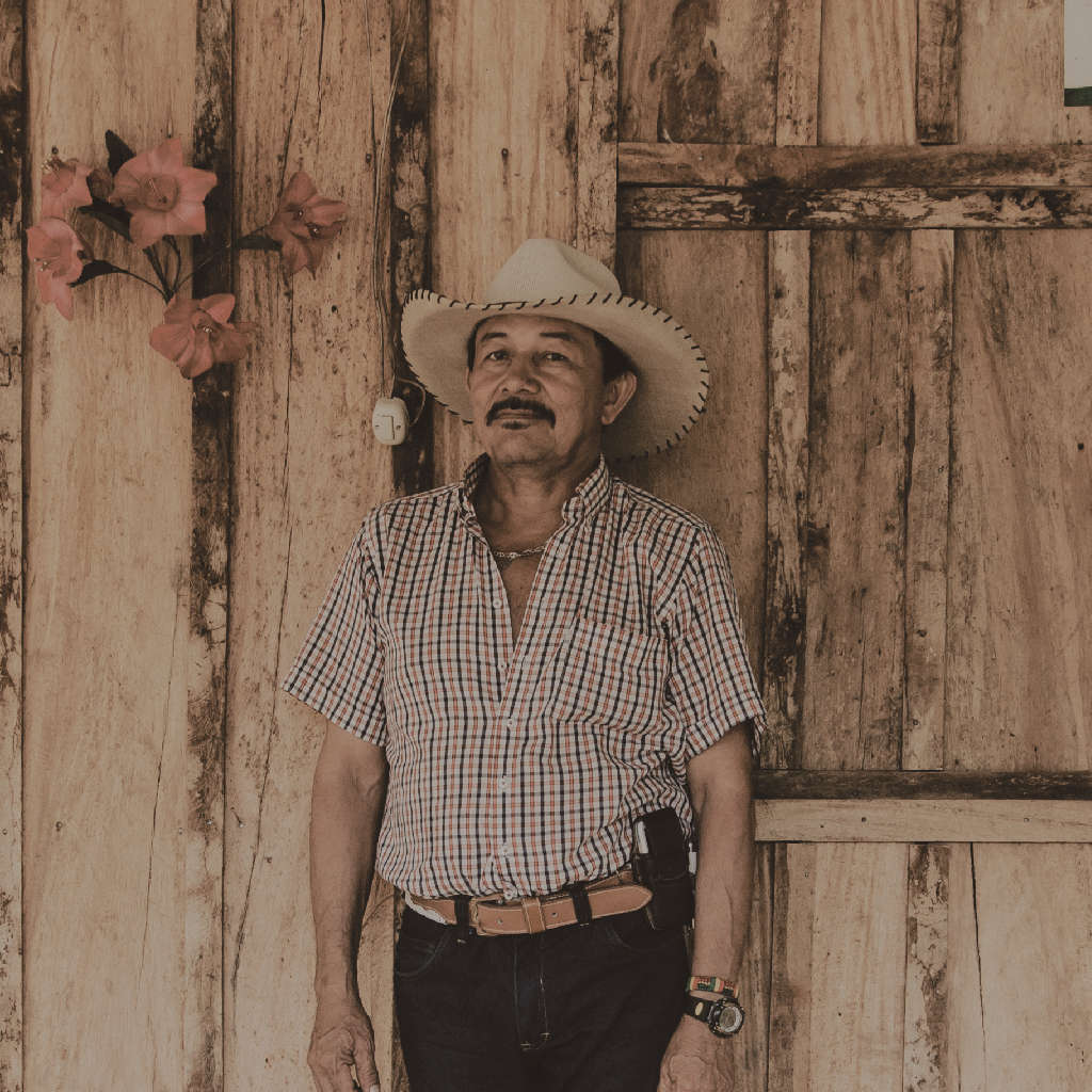"Jaime Rojas   ""I've been living here since long time, more or less 50 years. It is my dream to have the land property. I like to cultivate avocado and sapotes on my land. And flowers, lots of flowers."""