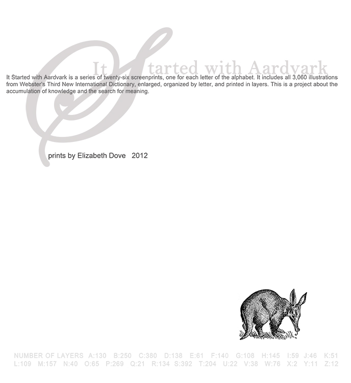 colophon for portfolio