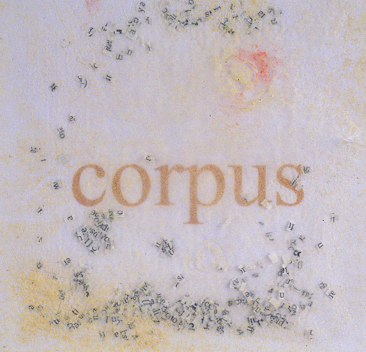 Corpus of the Unknowable - Cut up dictionary text and collagraph printing, each piece 7.5