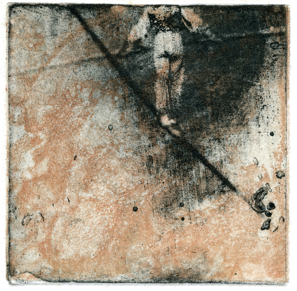 Miniprints - Glance: photo etch, intaglio, chine collé, 4