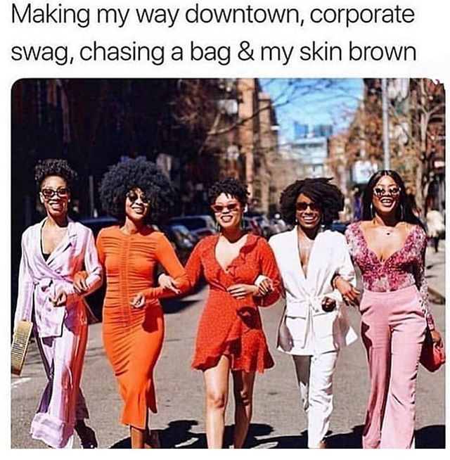 Nanana nanana nah 💃🏾 We support this message The colours! The stride! The glow up! Tag the sistahs by your side as you get your schmoney 💰