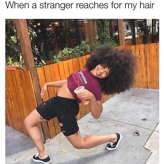 Oooo that LEAN! Outchere making us do gymnastics 🤸🏾♀️As summer gets closer ☀️the protective styles come off and the coconut oil starts melting, 🍯we are READY for our #HotGirlSummer glow up— just put some respect on the fro! Give us an amen if you agree 🙋🏾♀️🙋🏾♂️ —————————————— #amen #coconutoil #AfroOut #curlsonpoint #swerve #DontTouchMyHair #MissMe #AfroSistahs #BlackGirlMagic #BrownSkinGirl