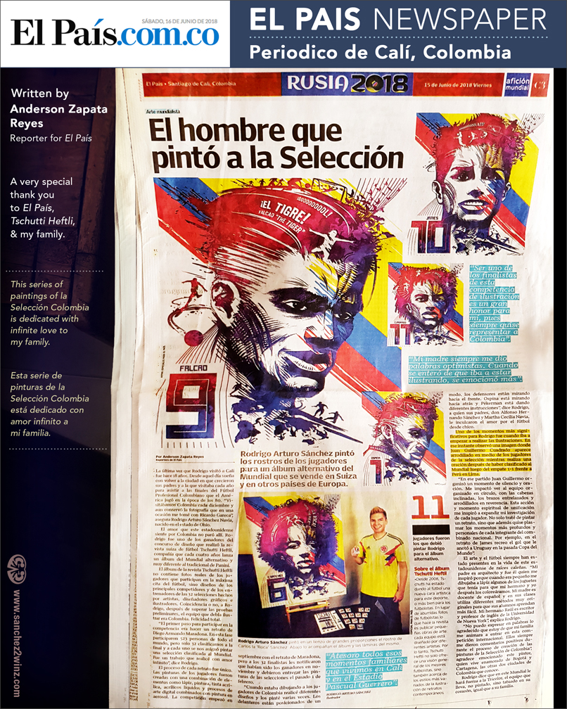 El País NewsPaper of Cali, Colombia (Front PAge), Photo by Juan Carlos Navia