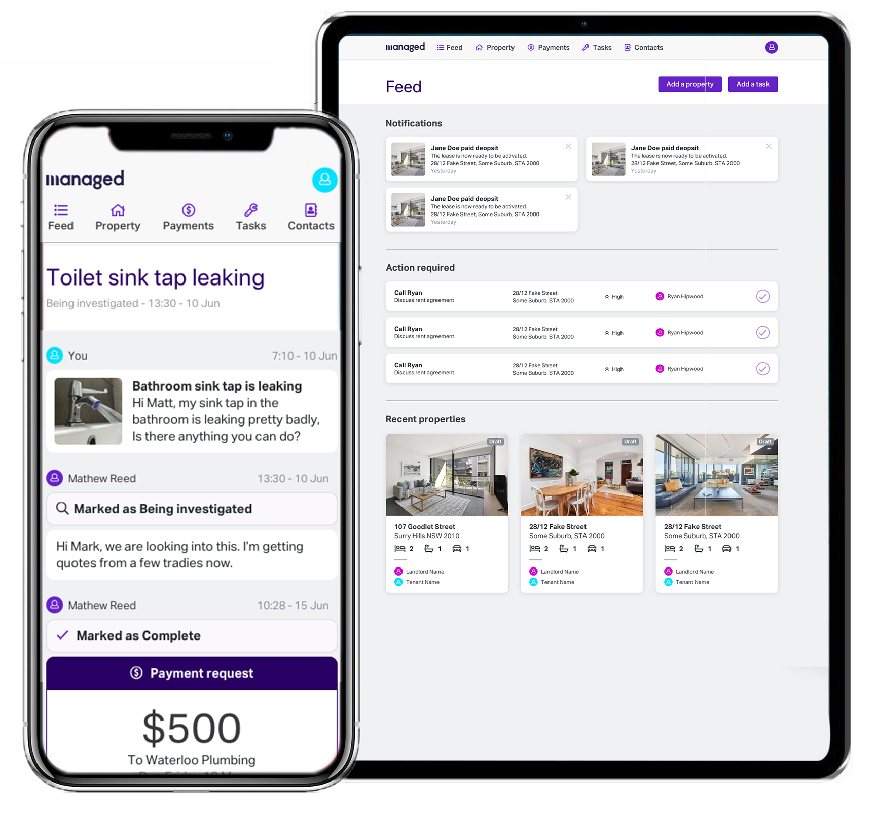 For Property Managers - Automate your day with our end-to-end features & intuitive workflows. We are re-defining the role of a Property Manager - adding value to landlords and tenants in more ways than simply collecting rent and facilitating trades.