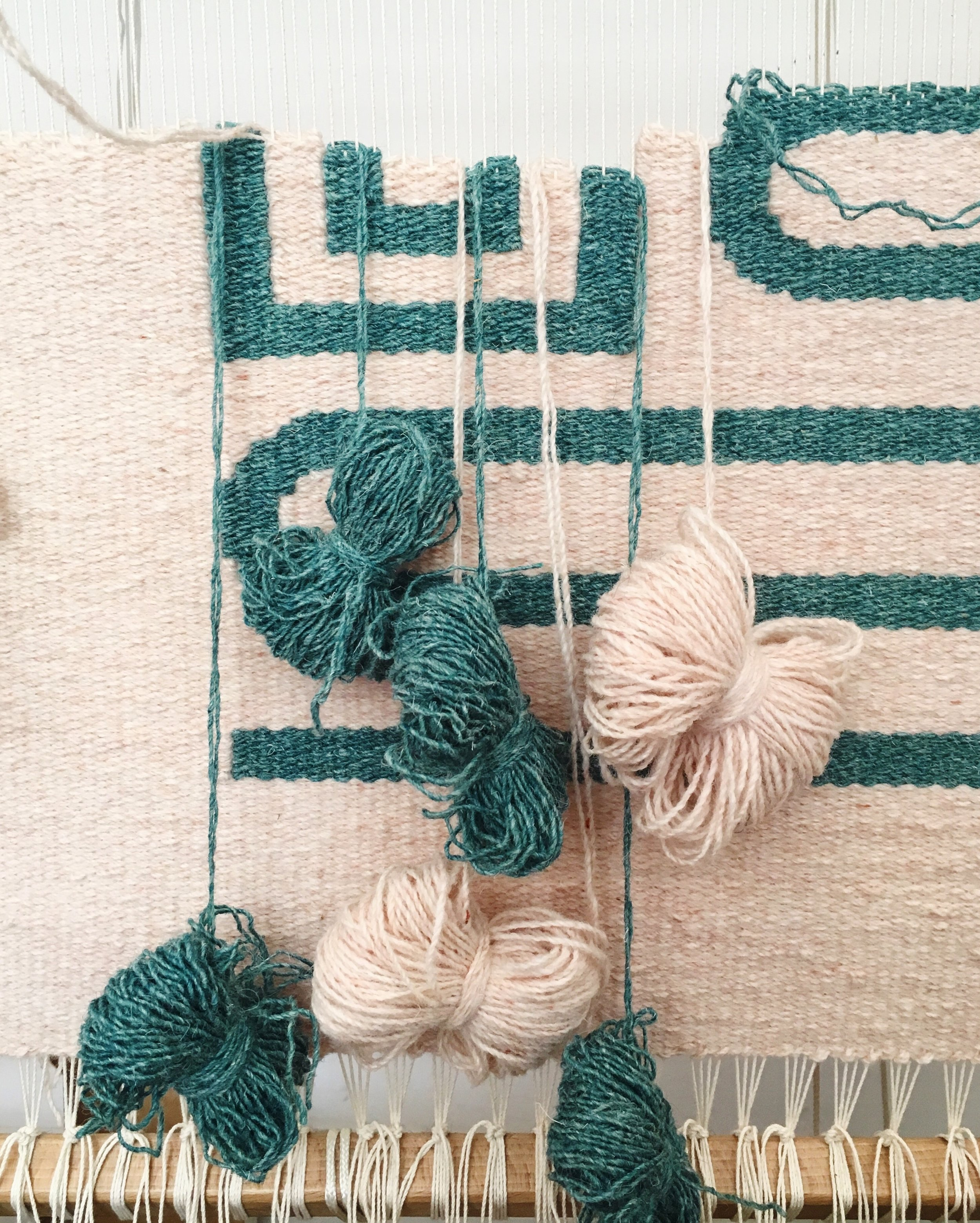 In the online course, I'll be talking through how to weave more complex designs like this one