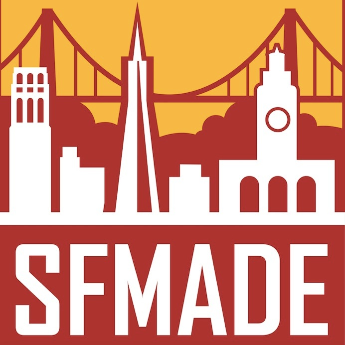 We are proud members of SFMade  - Our handmade San Francisco-made jewelry is made of locally sourced materials with an environmental focus - and is all made in our home workshop in Hayes Valley.