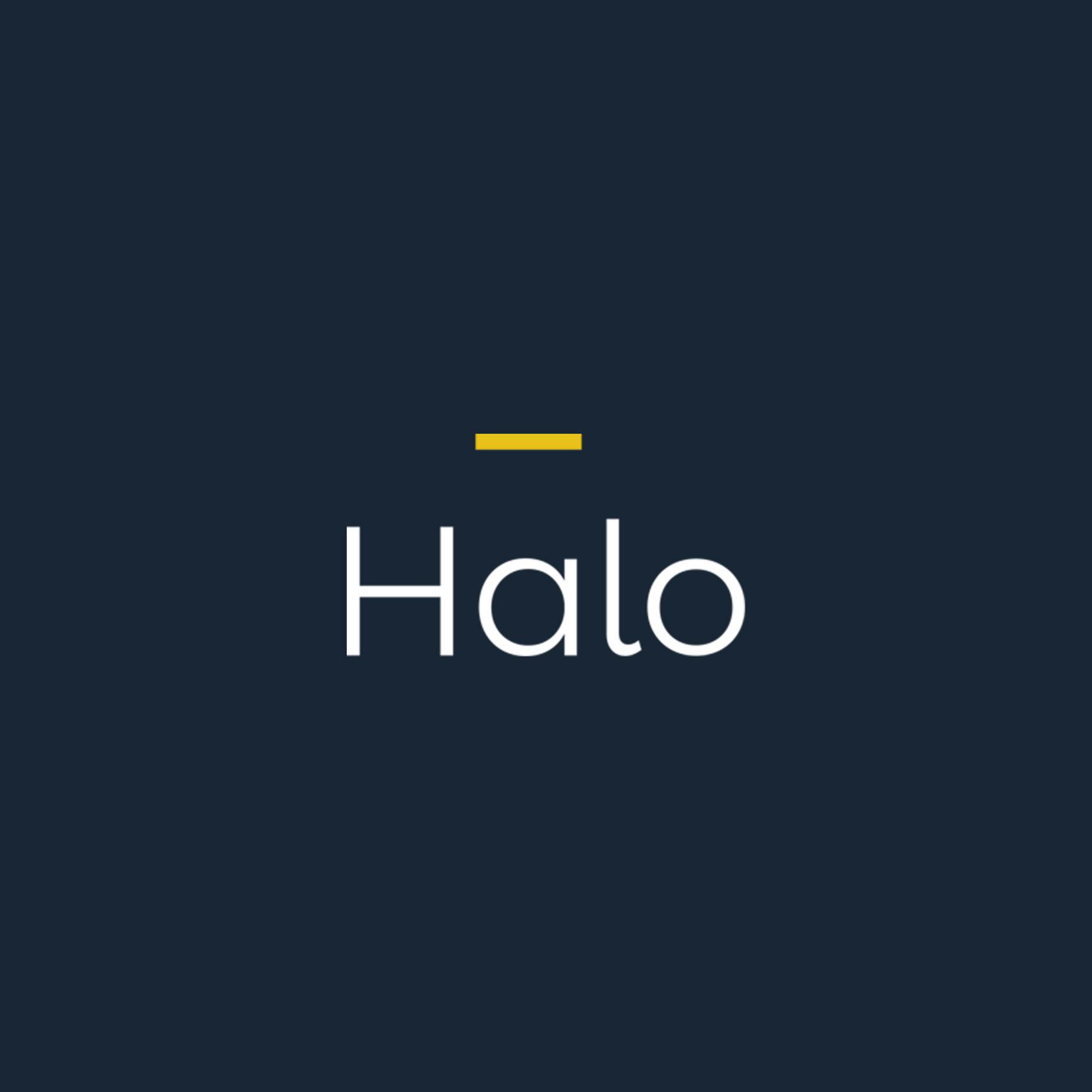 Creative custom logo design for Halo London
