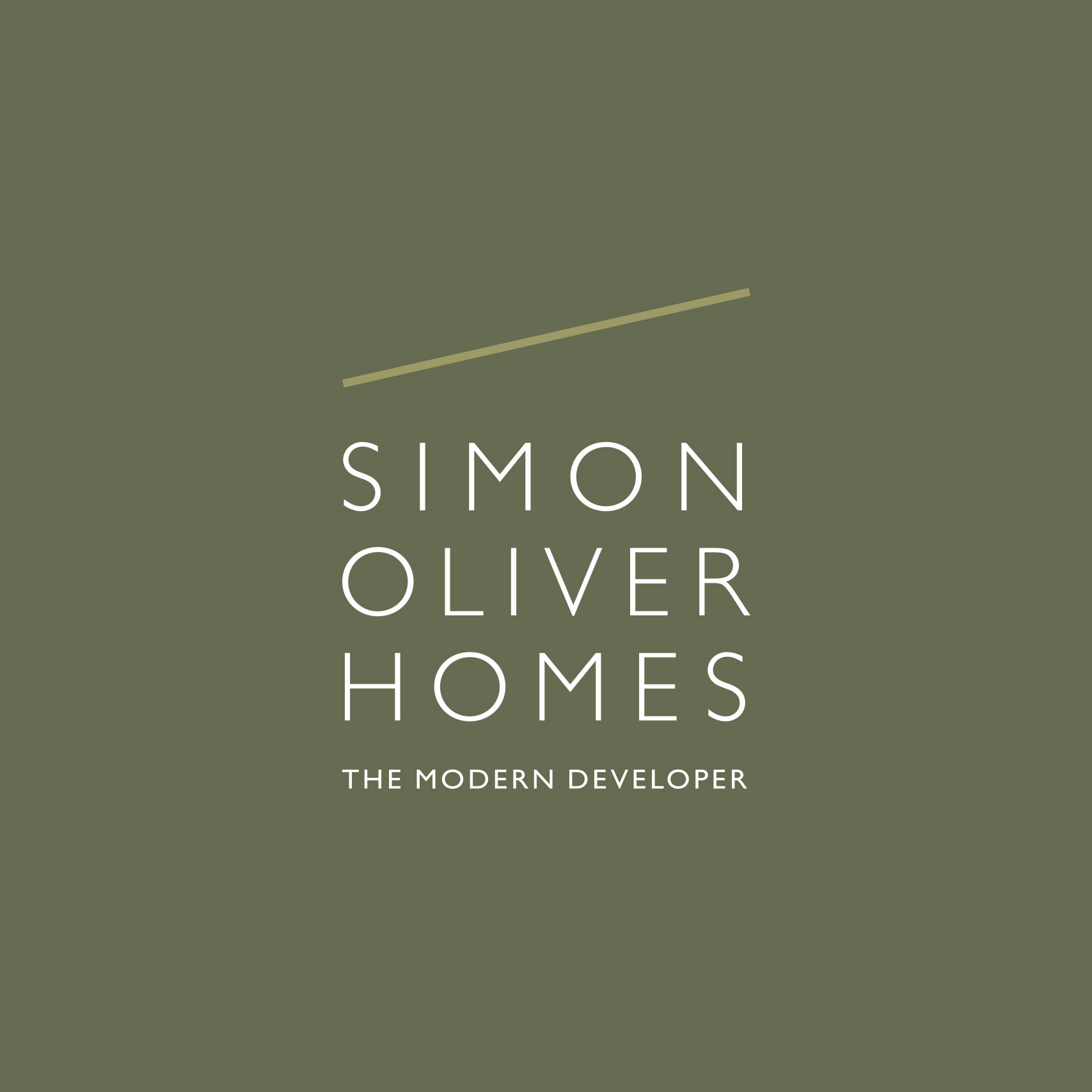 Simple clean logo design for Simon Oliver Homes London