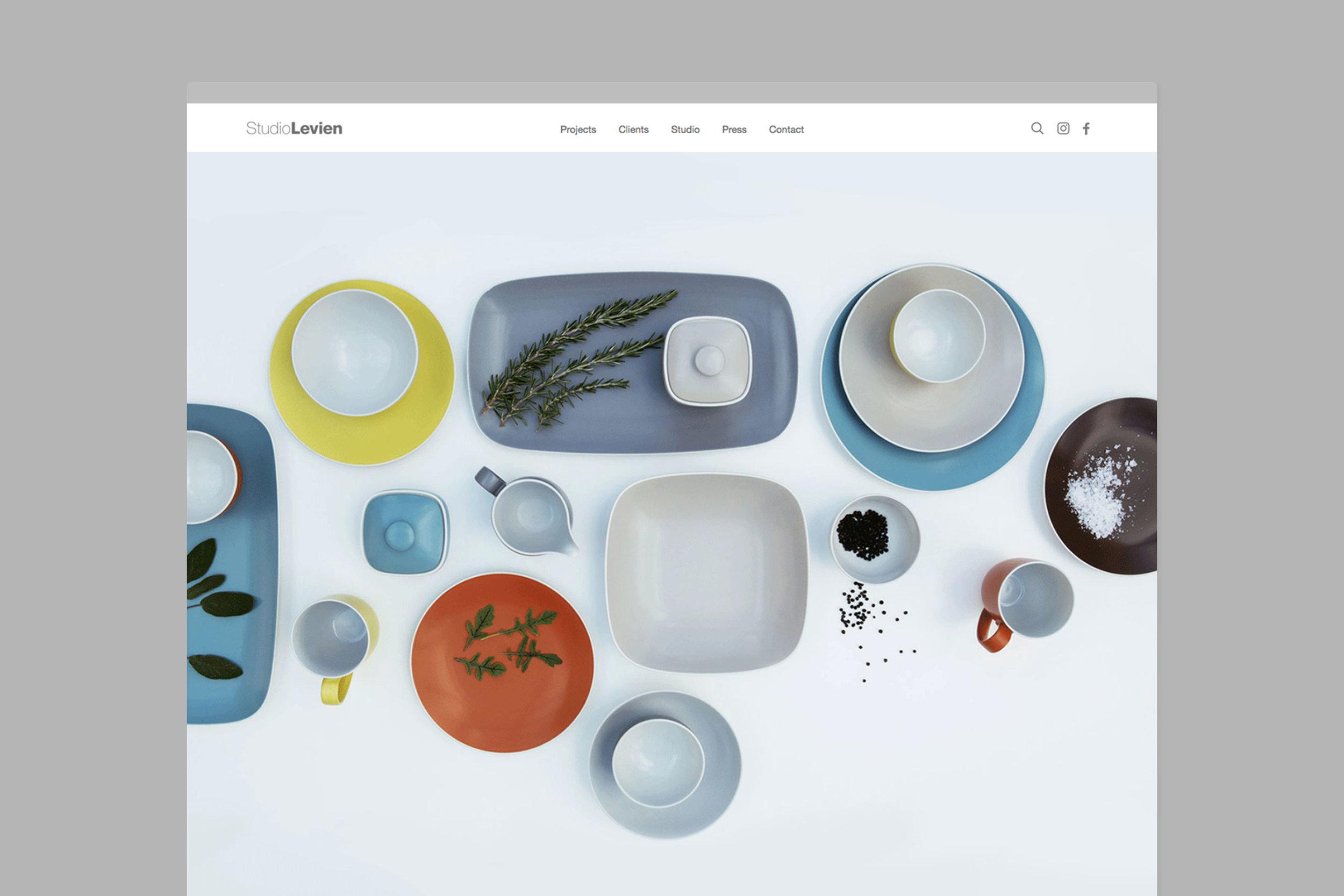Simple professional web design for Studio Levien