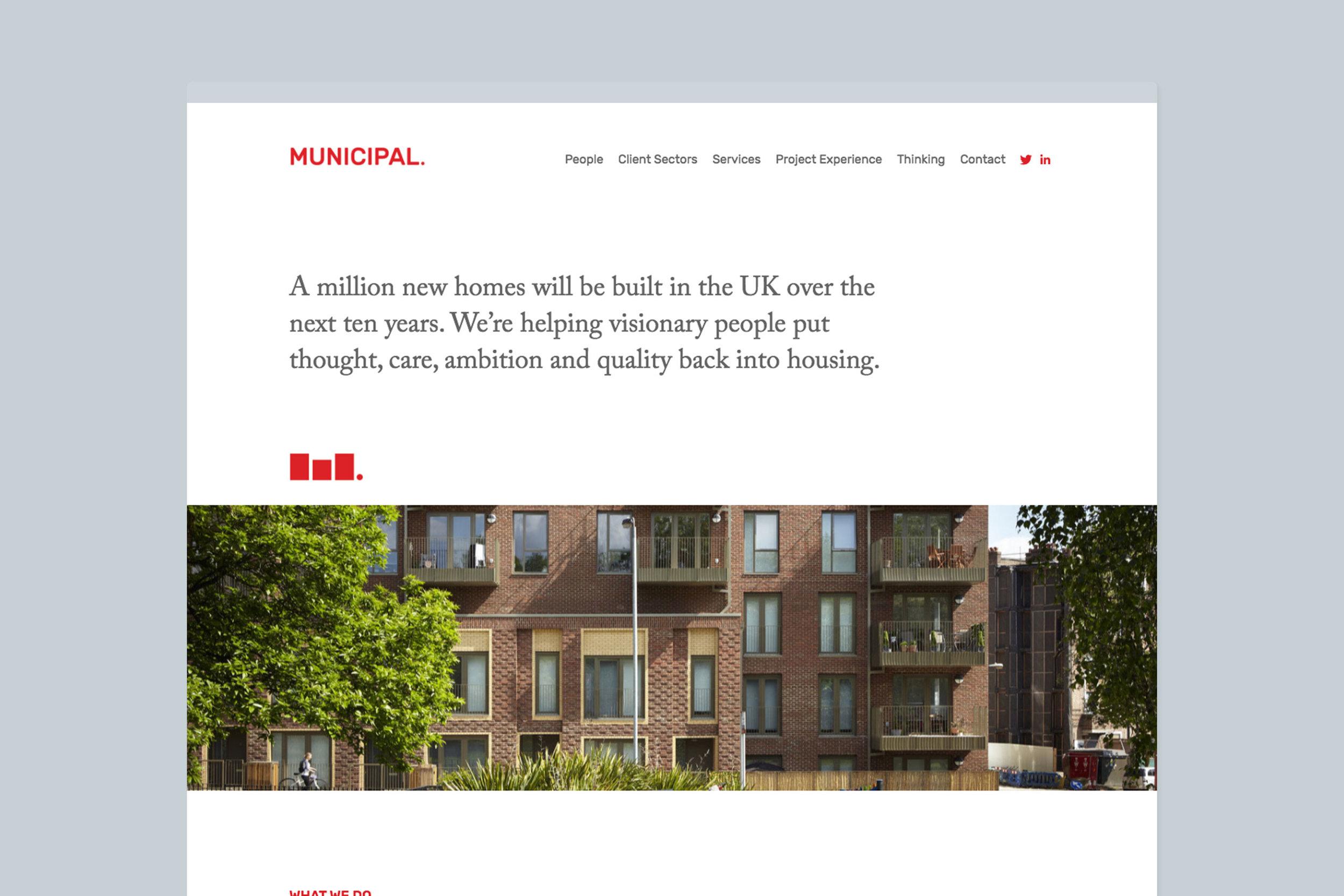 Modern bespoke website design for Municipal