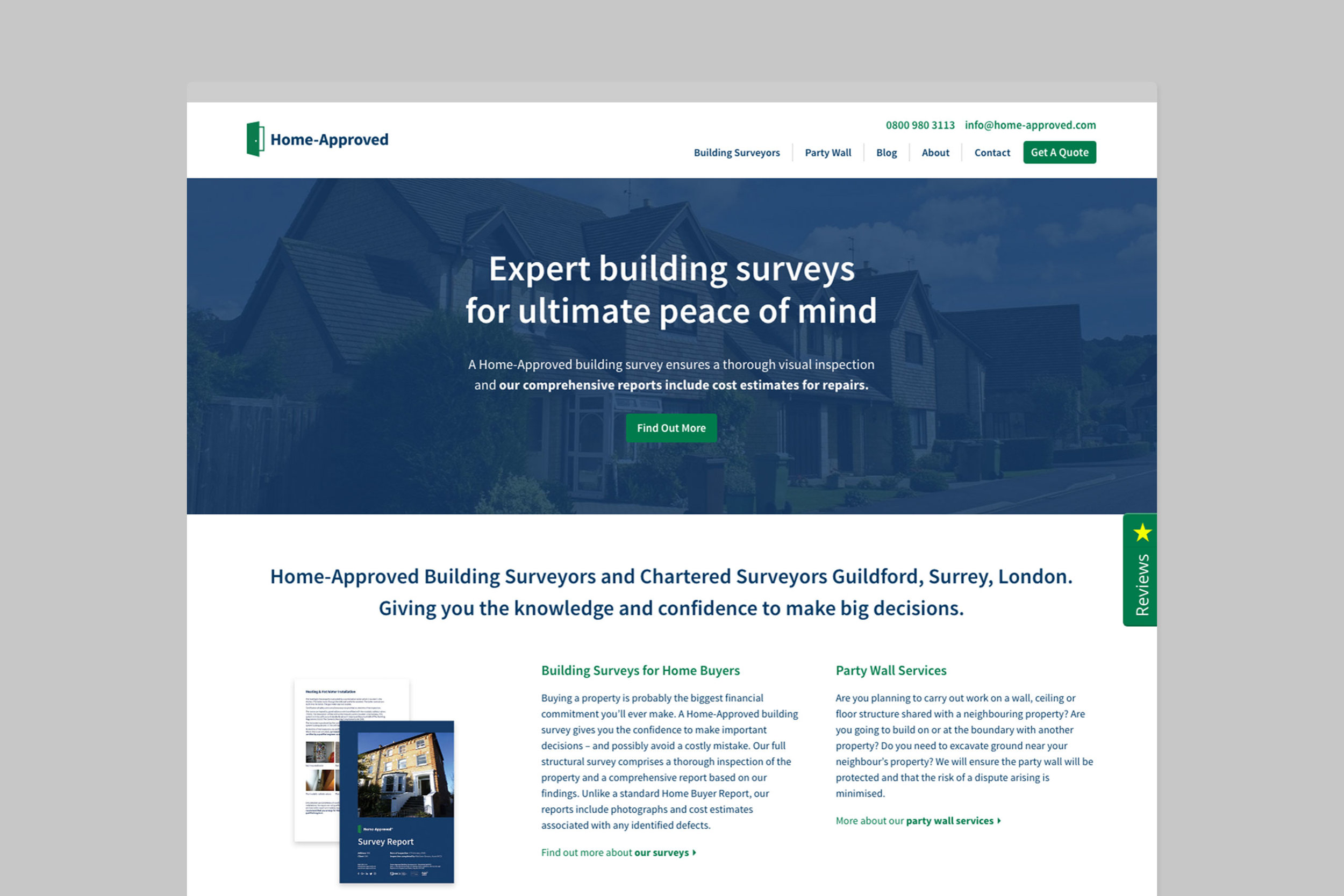 Simple responsive web design for Home-Approved